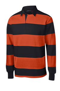 CLOSEOUT Sport-Tek Long Sleeve Rugby Polo. ST300