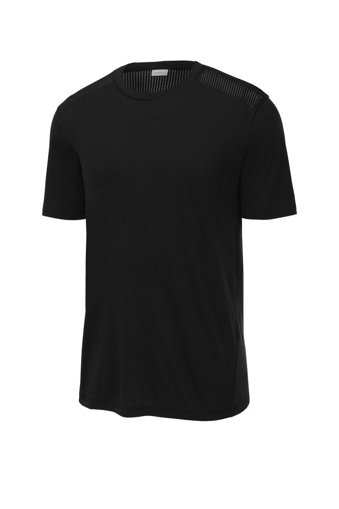 Sport-Tek  PosiCharge  Tri-Blend Wicking Draft Tee. ST410