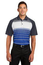 Load image into Gallery viewer, Sport-Tek Dry Zone Sublimated Stripe Polo. ST600