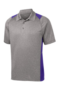 Sport-Tek Heather Colorblock Contender Polo. ST665