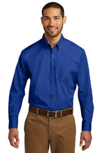 Load image into Gallery viewer, Port Authority Tall Long Sleeve Carefree Poplin Shirt. TW100