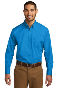 Port Authority Long Sleeve Carefree Poplin Shirt. W100
