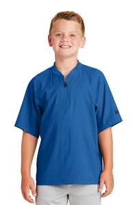 New Era  Youth Cage Short Sleeve 1/4-Zip Jacket. YNEA600