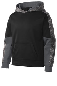 Sport-Tek Youth Sport-Wick Mineral Freeze Fleece Colorblock Hooded Pullover. YST231
