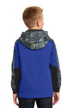 Load image into Gallery viewer, Sport-Tek Youth Sport-Wick Mineral Freeze Fleece Colorblock Hooded Pullover. YST231