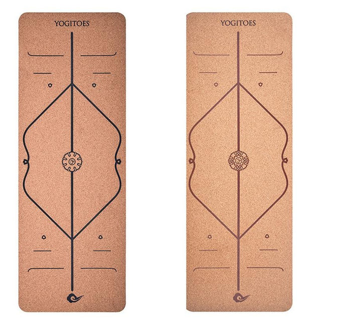 Position Line Cork Yoga Mat