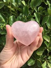 Rose Crystal Quartz Heart