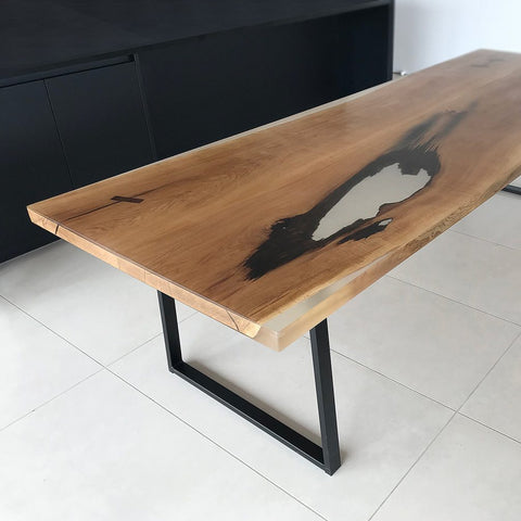 Frosted Glacier Resin Dining Table
