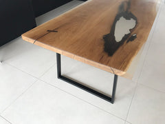 "Slab & Resin ""Floe"" Dining Table by Revive Joinery"