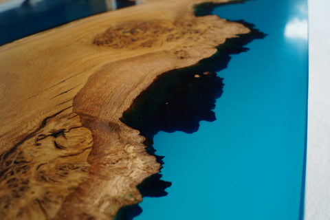 'Topographical' - Wood and Resin Coffee Table