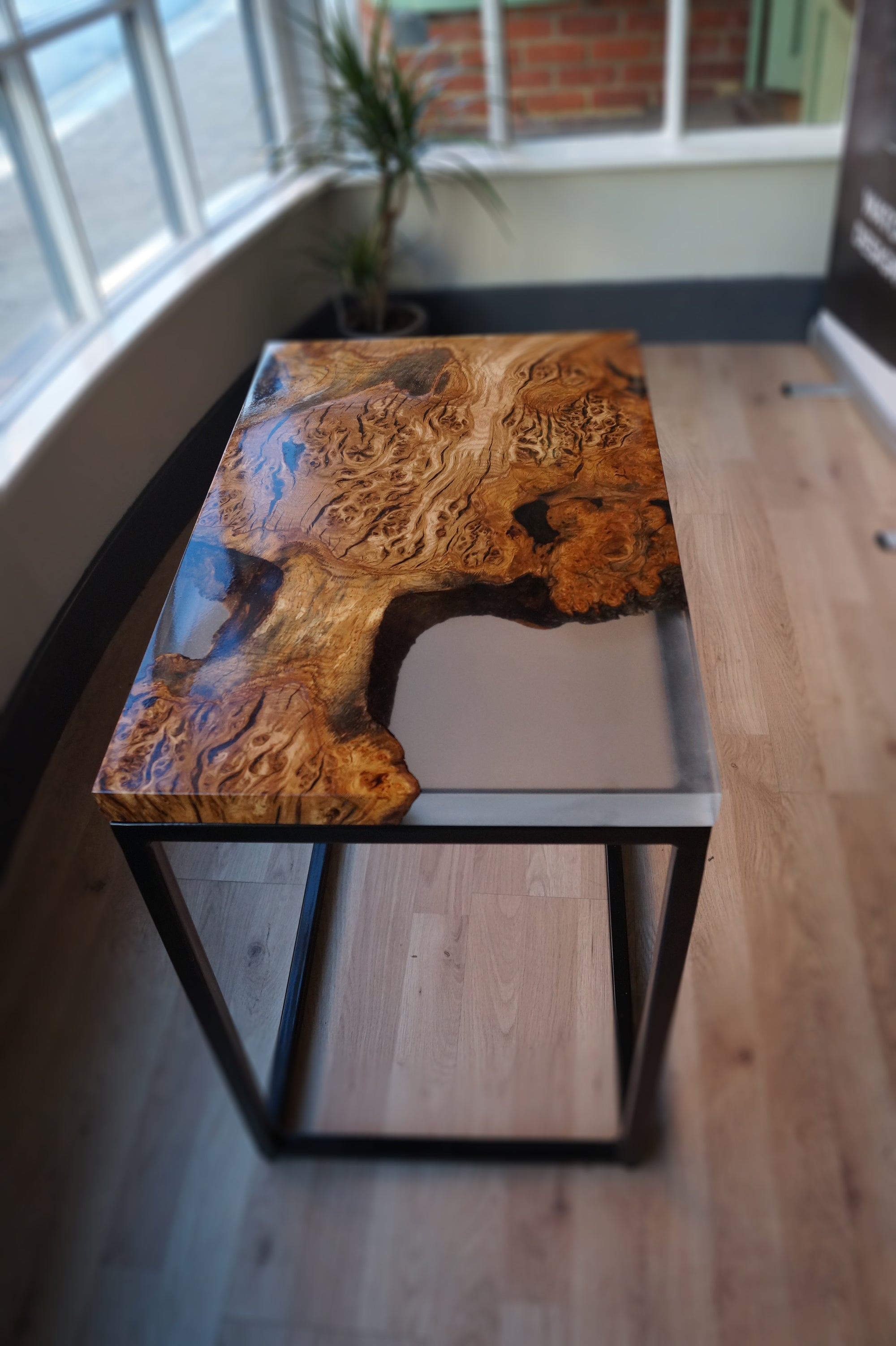 Frosted Glacier Resin Side Table