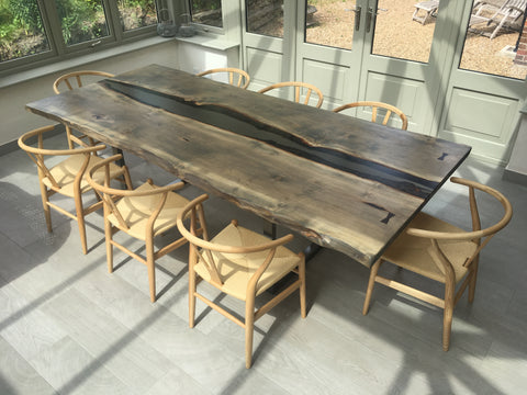 Smoked Resin River Dining Table