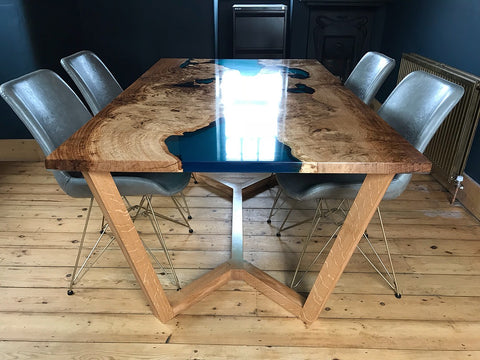 Premium Resin River Table