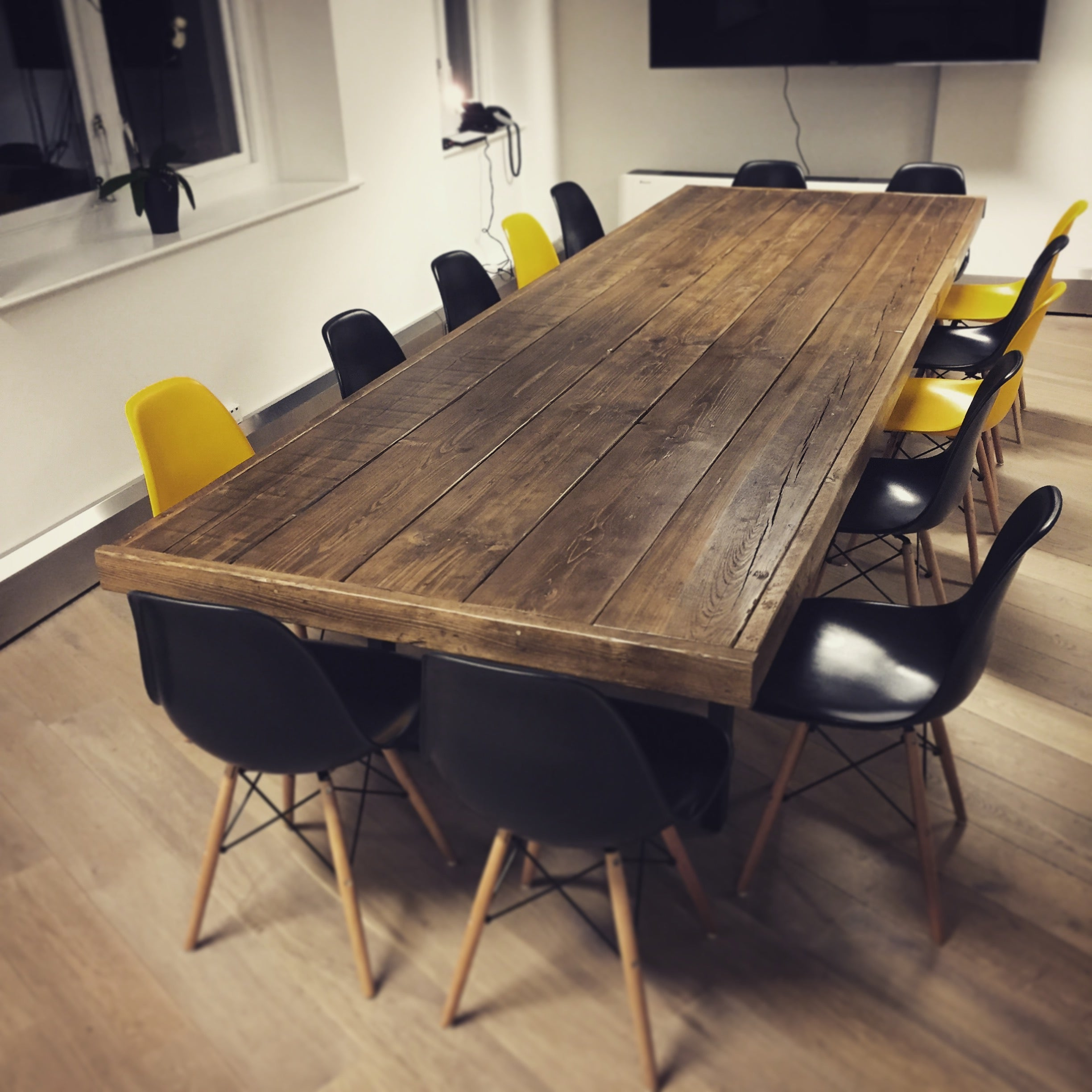 Reclaimed Wood 'Jules' Boardroom Table