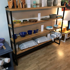 Oak & Steel Shelving (Large)