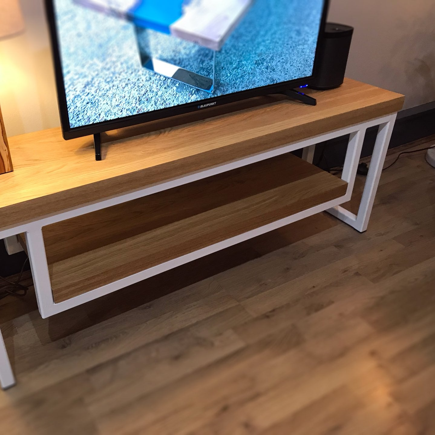 Oak & Steel TV Unit