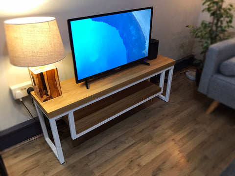 Oak and Steel TV Unit