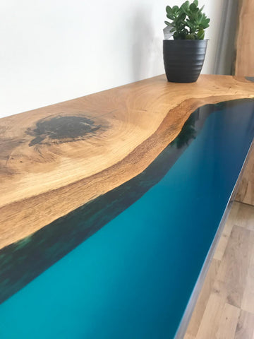 Shoreline Resin Console Table