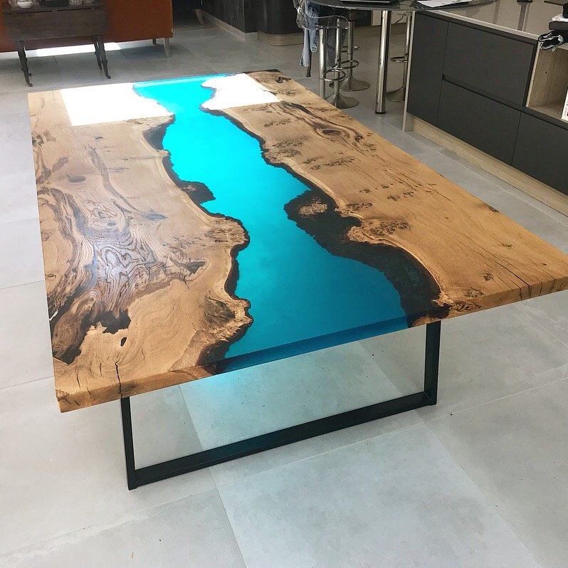 Resin Oak River Dining Table Revive Joinery Unit 11