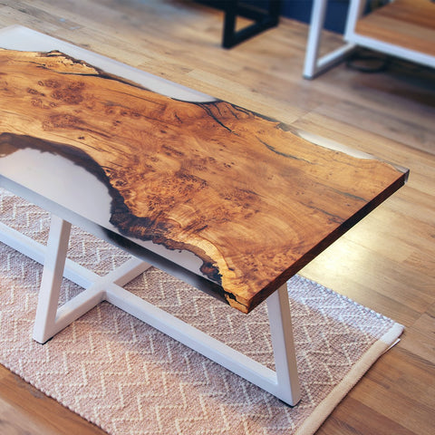 Frosted Glacier Resin Coffee Table