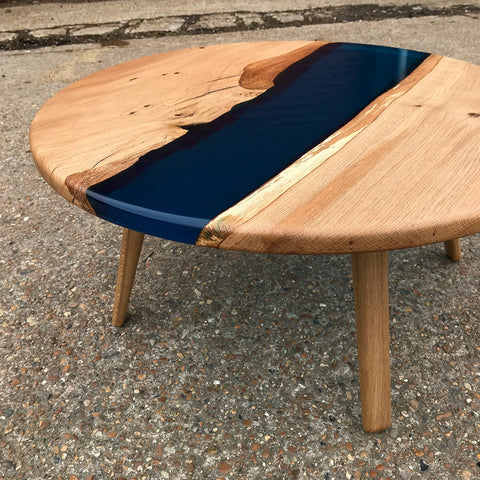 Round Resin River Table