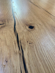 "In Stock - Oak Live Edge ""Splayed"" Dining Table"