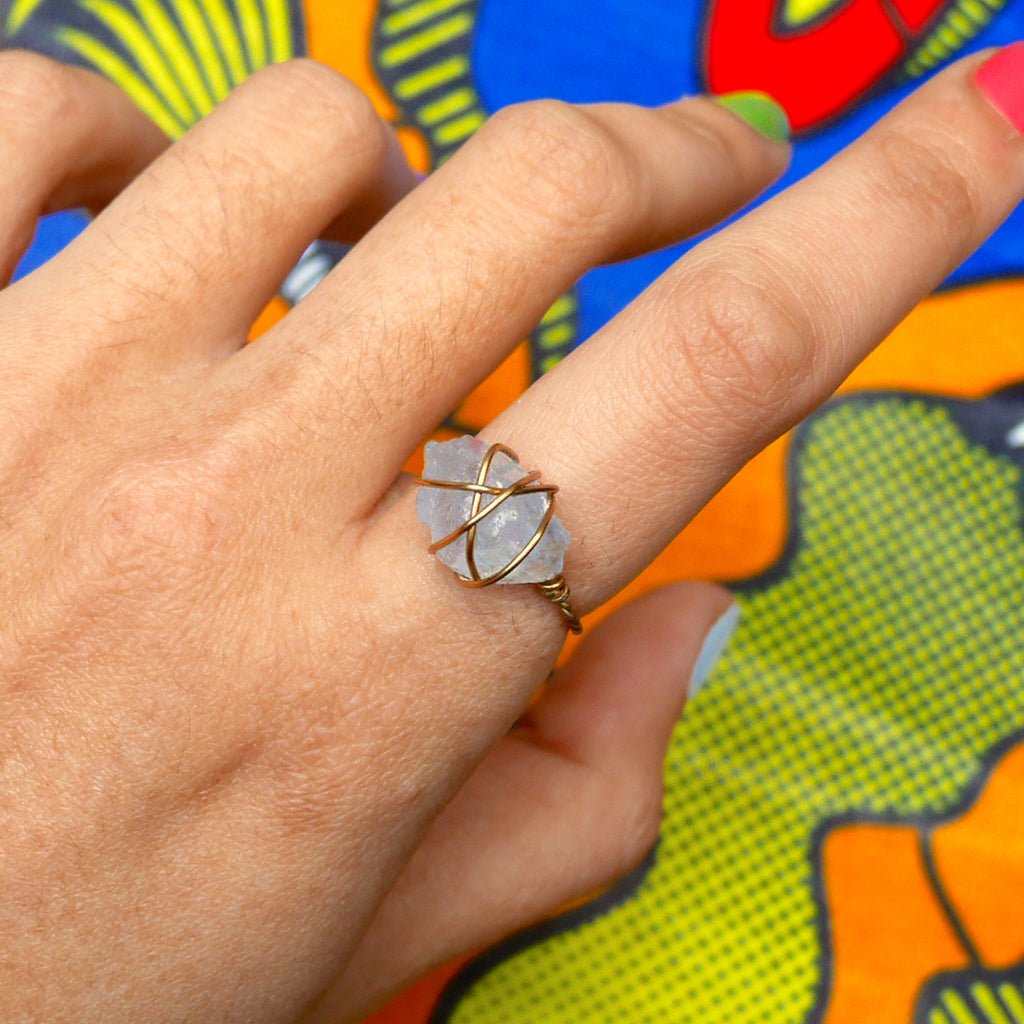 Stoner Ring - Blue Calcite