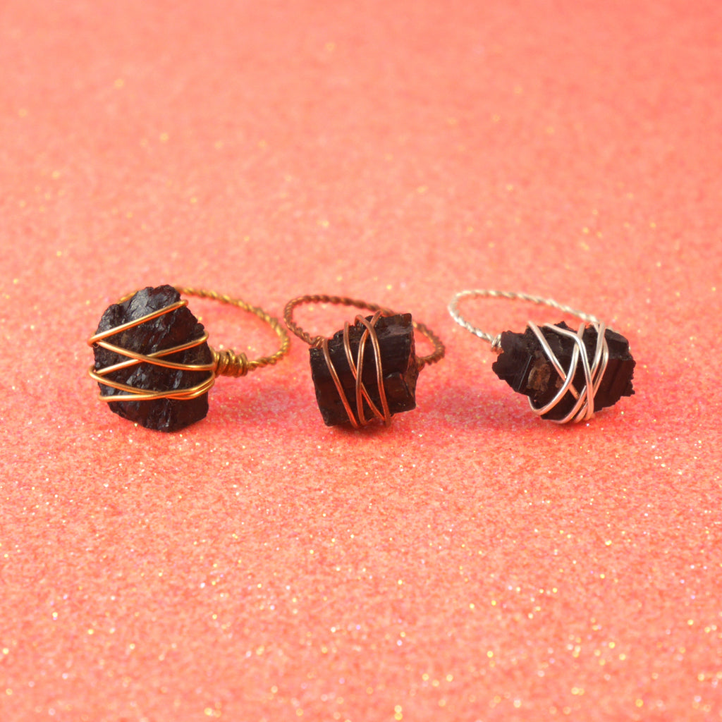 Stoner Ring - Black Tourmaline