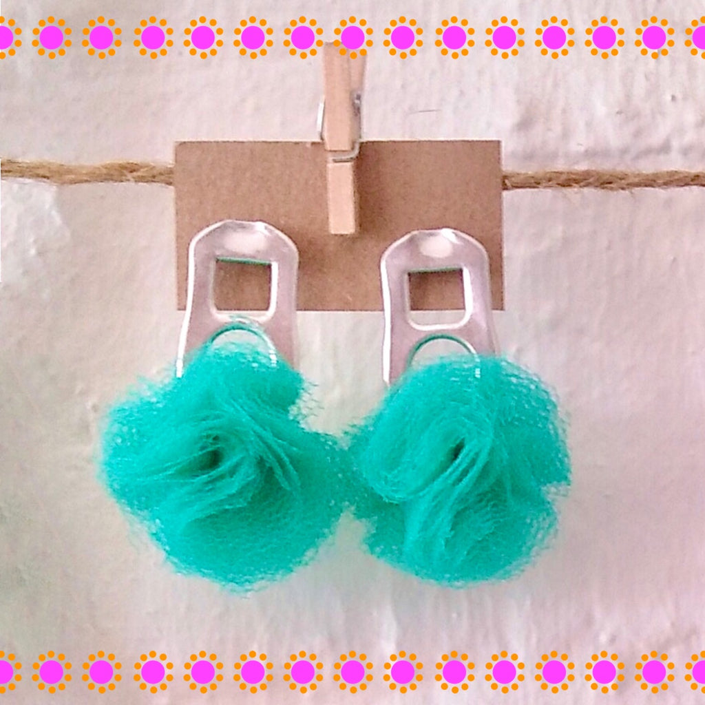 PomPom Can Earrings