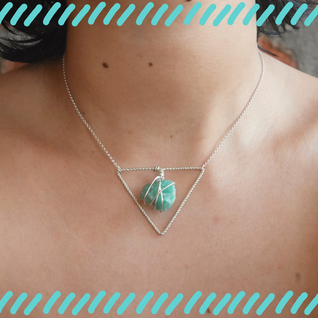 Stoner Triangle Necklace - Amazonite