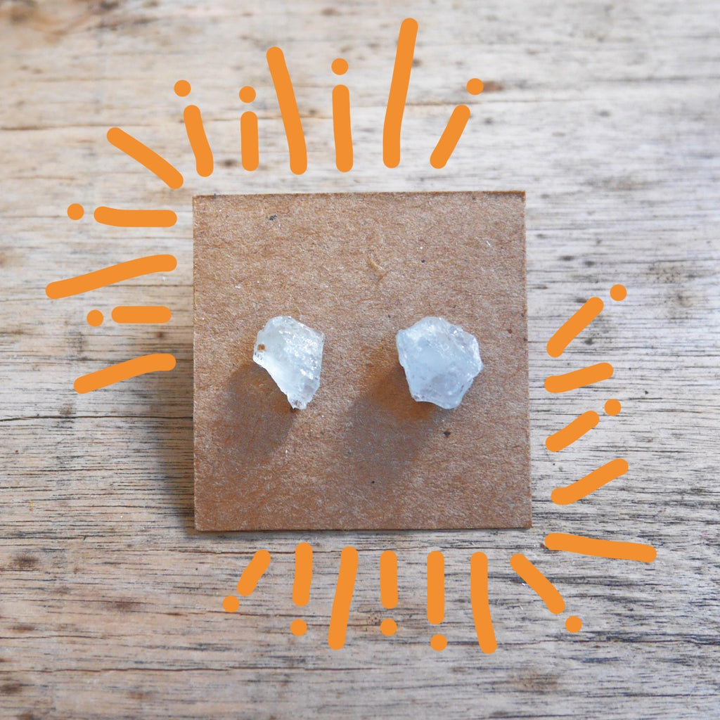 Stoner Earrings - Celestite