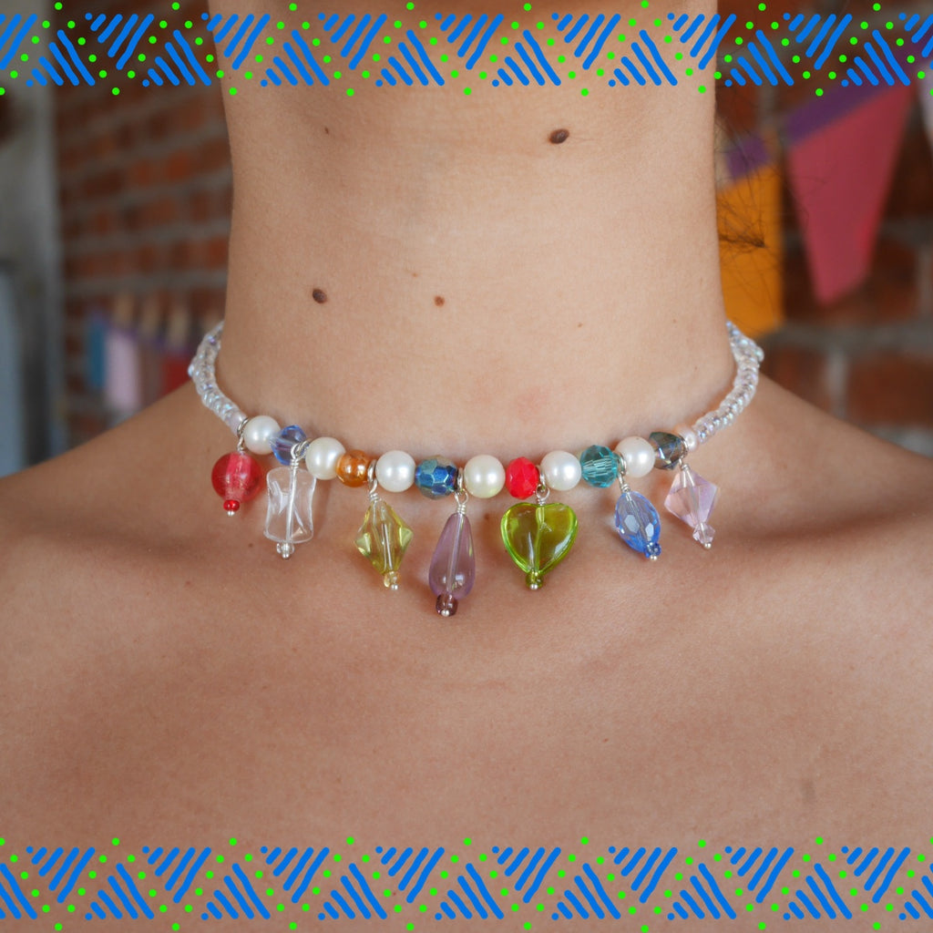 Candy Charms Neck - Rainbow Drops