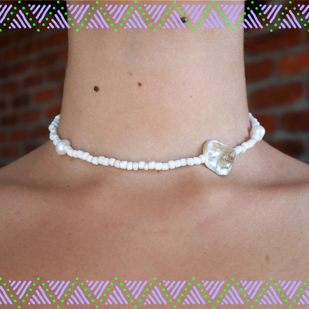 Simple White Pearls Necklace