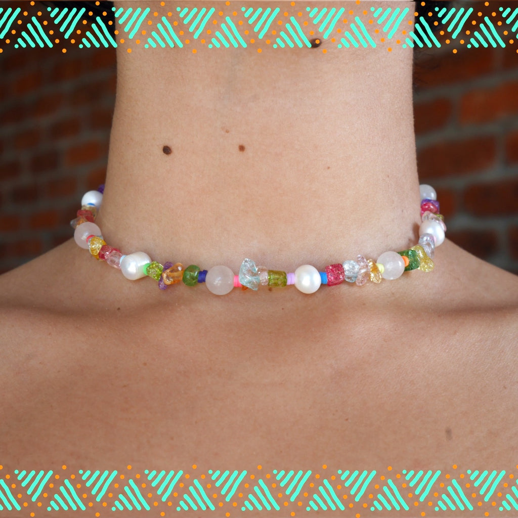 Pastel Pearl Neck