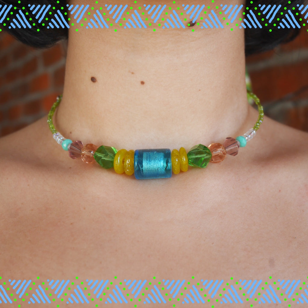 Candy Neck Piece - Blue Fairy