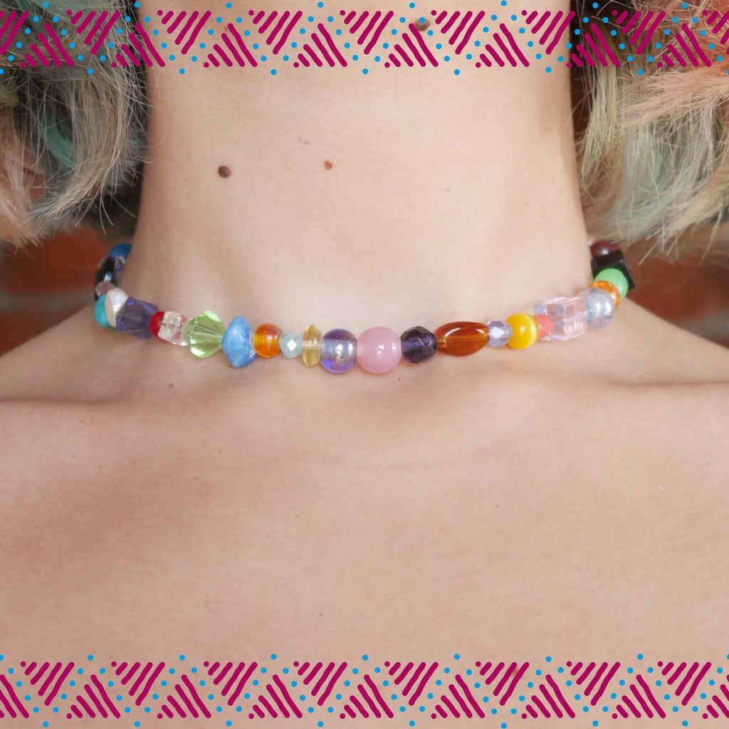 upcycled choker handmade in capetown