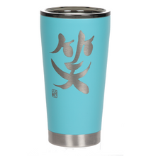 "Load image into Gallery viewer, 16oz ""Laugh"" Shodo Tumbler (Aqua)"