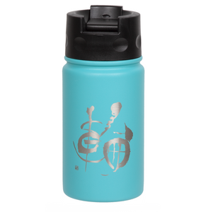 "12oz/354ml ""Circle Of Harmony"" Shodo Flip Top Bottle (Crater Blue)"