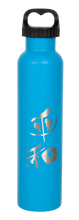 "Load image into Gallery viewer, 25oz/739mL ""Peace"" Shodo Screw Top Bottle (Crater Blue)"