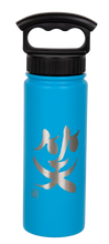 "Load image into Gallery viewer, 18oz/532mL ""Smile"" Shodo Screw Top Bottle (Crater Blue)"