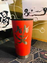 "Load image into Gallery viewer, 16oz ""Laugh"" Shodo Tumbler (Coral)"