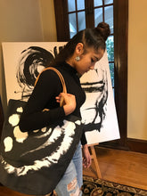 Load image into Gallery viewer, Sora and Michael Green's Original Design Canvas Tote (Charcoal)