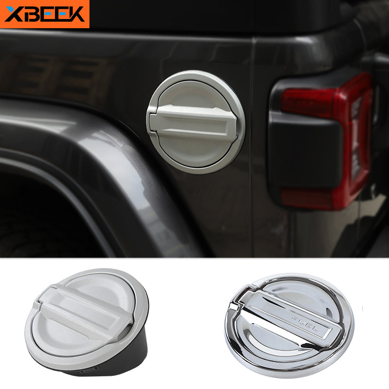 Gas Fuel Tank Cap Cover Tank Covers for Jeep Wrangler JL 2018 2019 2020  Accessories by XBEEK