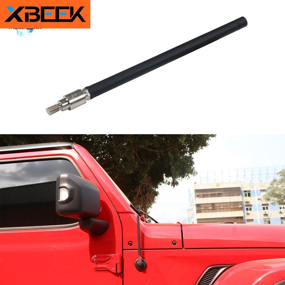 FM Reception Amplifier Copper Antenna Rubber Aerials Mast for Jeep Wrangler 2007-2019 2020 JK JL by XBEEK