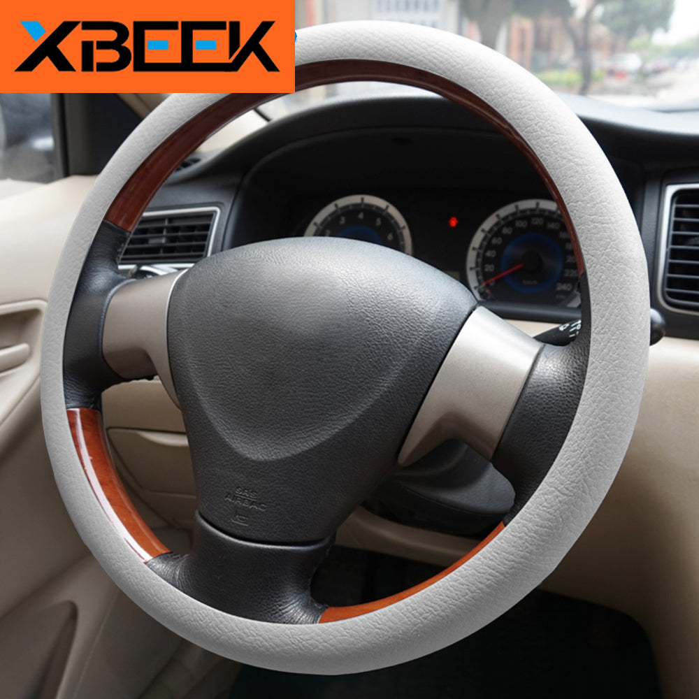 Steering Wheel Cover Silicone Elastic Steering Cover Decoration 15 '' Universal by XBEEK