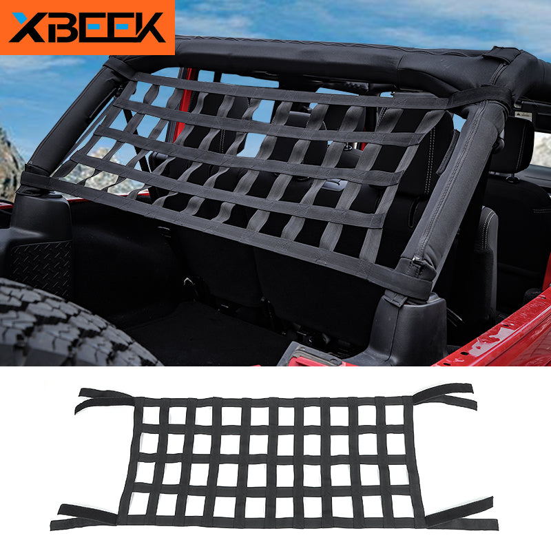 Top Roof Hammock Waterproof Cover Rest Storage Network for Jeep Wrangler TJ JK JL 1997-2019 2020 by XBEEK