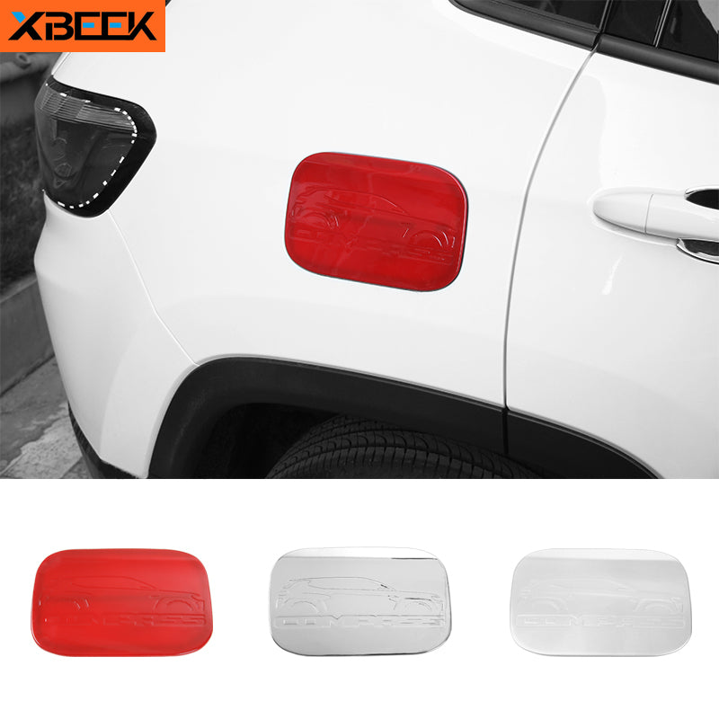 ABS Gas Fuel Tank Cap Cover Decoration Trim Stickers for Jeep Compass 2017-2019 by XBEEK