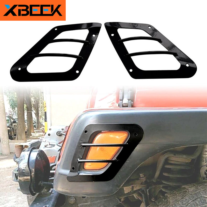 Front Turn Signal Light Head light Side Eyebrow Light Guards for Jeep Wrangler TJ 1997-2006 by XBEEK