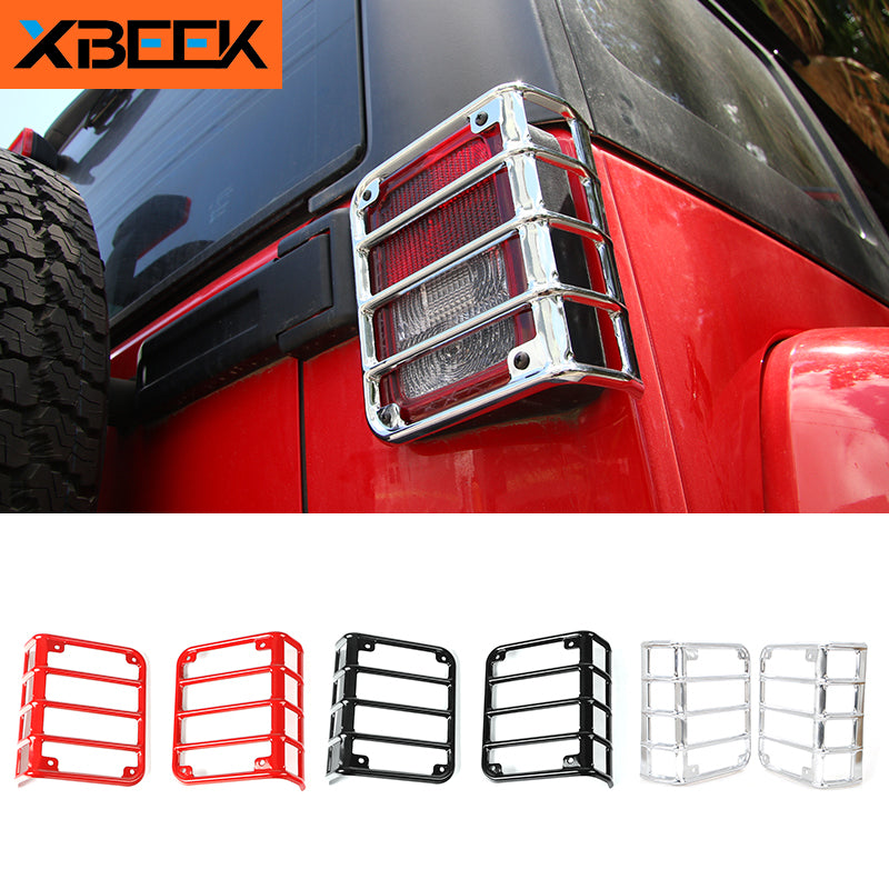 Rear Tail Lamp Cover Tail light Mount Bracket Protect Guards for Jeep Wrangler JK 2007-2018 by XBEEK