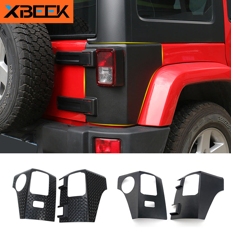 Taillight Lamp Guard ABS Cover Trim Tail light Protector for Jeep Wrangler JK 2007-2016 by XBEEK
